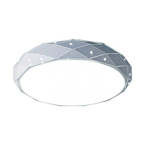 SAILUN® 24W Kaltweiß Sternenlicht Deckenleuchte Starlight Rhombus Design LED Deckenleuchte Sternen Φ320*100mm Modern Lampe Kreative Deckenleuchte Wohnzimmer Deckenbeleuchtung (24W Kaltweiß)