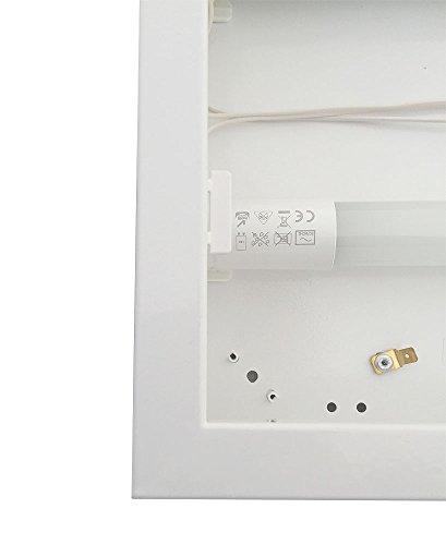 LED Rasterleuchte, 1500mm, 1-fl. inkl. LM 27W 6500K Tageslicht Rasteranbauleuchte mit Doppelparabolraster (BAP), vorverdrahtet für LED Röhren