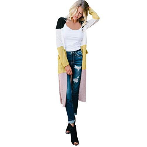 VJGOAL Mantel Damen Jacke Strickjacke Mode Wild Große Größen Langer Abschnitt Nähen Lange Ärmel Coats Browning-camo Sweatshirt