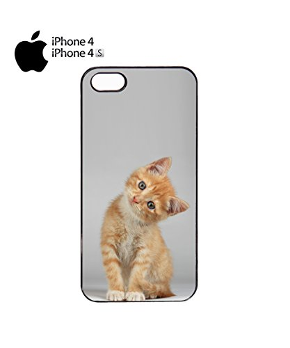 Cute Cat Looking At You Kawaii Yellow Cats Animal Mobile Phone Case Cover iPhone 6 Plus + Black Noir