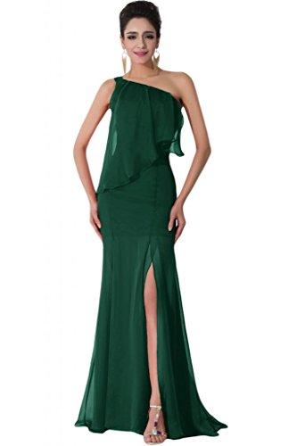 Sunvary Chiffon Una spalla, alla moda, per abiti da sera Verde scuro