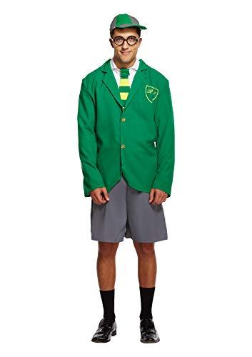 Boy Kostüm School Männer - Emmas Garderobe Schule Kostüm für Männer - Outfit UK Größe M-XL (Men: Medium, Green)