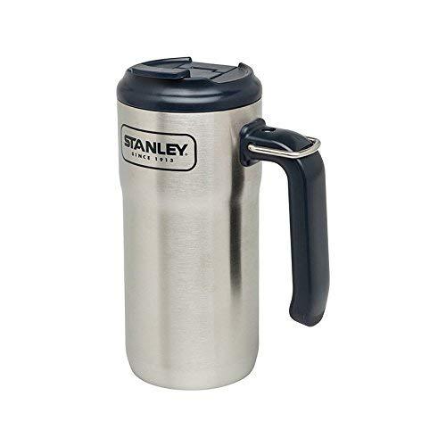 Stanley Uni Aventure Adventure Steel Travel Mug-473 ml-18/8 Edelstahl-doppelwandige Isolation-Klappdeckel-Edelstahlring, Mehrfarbig 0,47 l