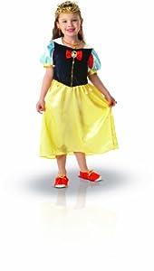 Princesas Disney - Disfraz de Blancanieves con accesorios para niña, infantil 5-7 años (Rubie