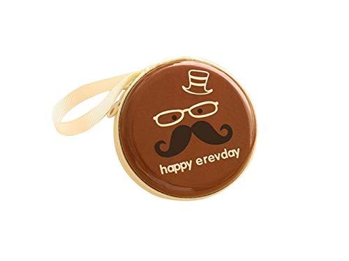 OVVO Machen Sie schöne Dekoration Runde Schnurrbart-Münzen-Geldbeutel-Kopfhörer-Schlüsselkasten-Reißverschluss-Speicher-Beutel-Beutel-Minitasche