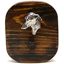 Galgo italiano, Percha de madera único, con un relieve de un perro de raza pura