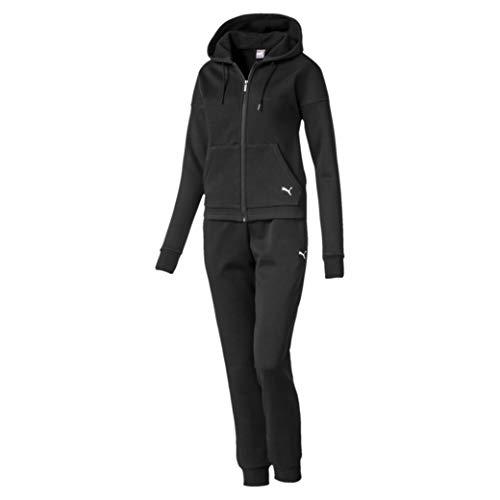 Puma classic hoody sweat suit, tuta sportiva donna, nero black, s