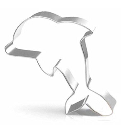 Delfin-form (WDYJMALL Ausstechform Delfin Edelstahl Kuchen Form Backen Keks Form)