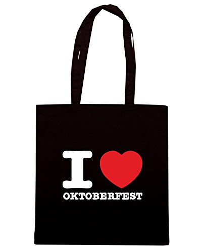 T-Shirtshock - Borsa Shopping BEER0076 i love oktoberfest dark tshirt Nero