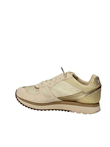 LOTTO Tokyo Wedge W sneakers lacci PELLE NUT GOLD STAR BEIGE T0890 inverno 2018 Gold