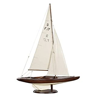 Authentic Models AS078F - Segelschiff Drachen - DRAGON Olympic Sail Racer - antik - handgefertigt 76,5 x 18 x 99 cm