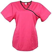 JONATHAN UNIFORM Camisas Médico con Cuello en Y para Mujeres Camisa de Uniforme de Hospital Suave