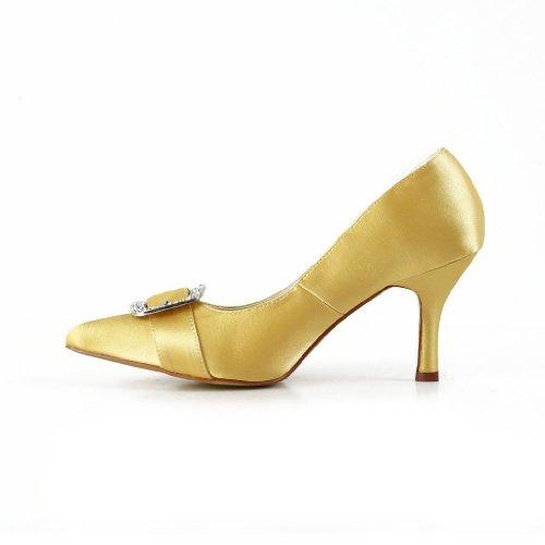 Jia Jia Wedding A3114 chaussures de mariée mariage Escarpins pour femme Or