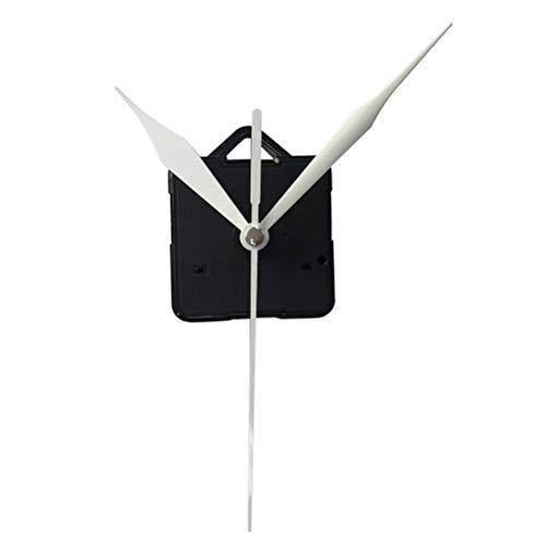 Yardwe kit movimento dell'orologio silenzioso kit meccanismo dell'orologio parti senza batteria per parti di ricambio di ricambio dell'orologio (un nucleo dell'orologio e 3 puntatori bianchi)