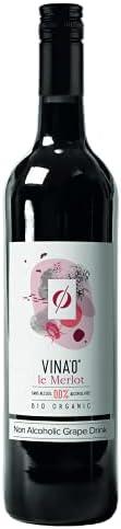 Vina'0 le Merlot Organic Non Alcoholic Wine, 7