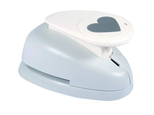 Rayher Hobby 69097000 Motivstanzer Herz, ø 5 cm- 1 2/5 Zoll, geeignet für Papier/Karton bis zu 200g/m²