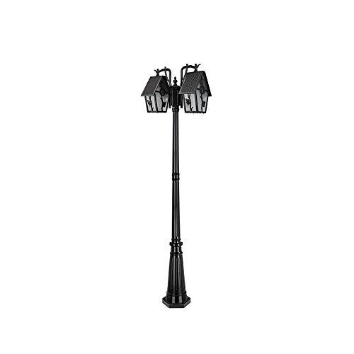 IBalody 2-Luces Pajarera de Vidrio Luz de Polo Alto para Exteriores E27 Retro IP54 Impermeable Camino...