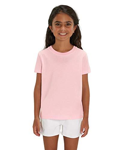 Rosa Mädchen T-shirt (Hochwertiges unisex T-Shirt für Kinder aus 100% Bio-Baumwolle, T-Shirt/Grösse:110/116, T-Shirt/Farbe:Cotton Pink)