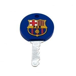 F.C. Barcelona Schlüssel cap- Gummi cap- ca. 35 mm x 30 mm, mit einer Schaukel tag- Offizielles Fußball-Merchandising-Produkt