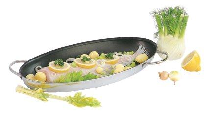 ovale Fischpfanne Demeyere mit Duraslide Ultra Beschichtung 45 x 24 x 4,5 cm hoch