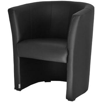 top sessel clubsessel loungesessel cocktailsessel kunstleder schwarz w042 01 k che. Black Bedroom Furniture Sets. Home Design Ideas