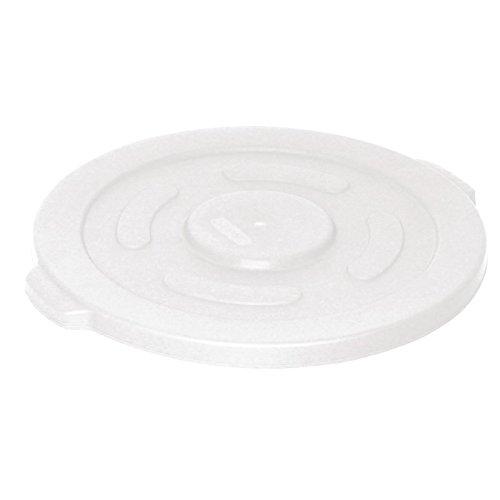 Vogue Gg795 rond Conteneur poubelle à couvercle, Blanc