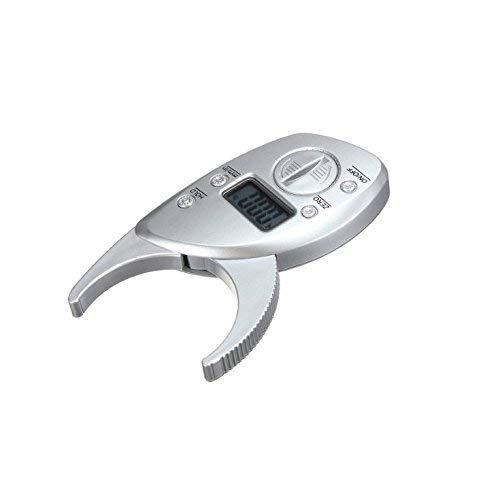 Gwill Körper-Fett-Messschieber, Digital-Körperfett Messschieber Electronic Hand-Körperfett-Messungs-Gerät Messwerkzeug LCD-Anzeigen-Prüfvorrichtung Analysator
