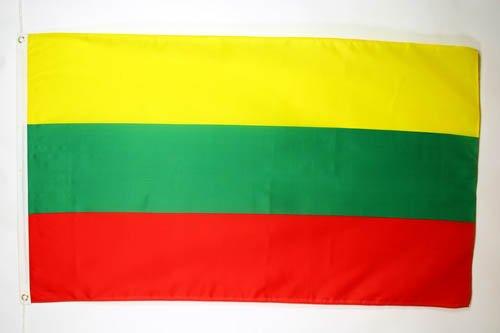 DRAPEAU LITUANIE 150x90cm - DRAPEAU LITUANIEN 90 x 150 cm - DRAPEAUX - AZ FLAG