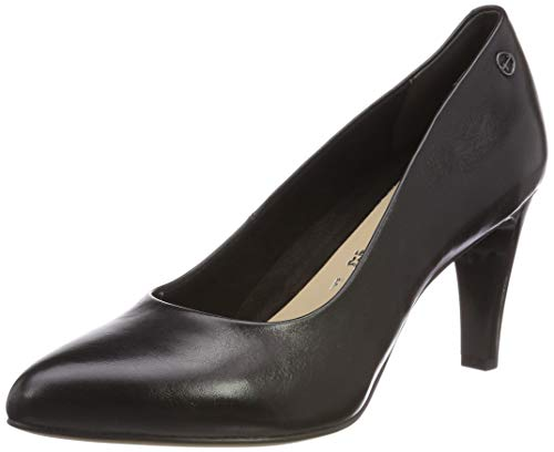 Tamaris Damen 1-1-22457-22 Pumps, Schwarz (Black 1), 38 EU - Leder Pumps