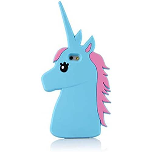unicornios kawaii eHenZ® TM carcasa diseño unicornio 3D, funda carcasa para iPad 2,3,4; iPhone 7,7+, 6,6+, 5... azul Pony iPhone 6