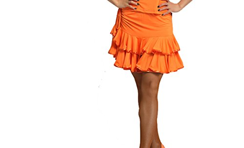 Latin dress Double skirt Latin skirts Cha Cha skirts Ballroom skirt Orange