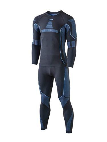 Selighting Herren Funktionsunterwäsche Thermo Skiunterwäsche Warme Unterwäsche Set für Ski Radsport Fitness Laufen (L, Blau)