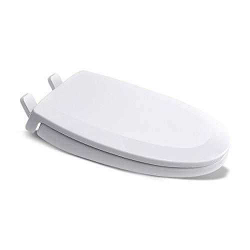 ME Toilettensitze, einfache Installation und schnelle Entriegelung, bakterienhemmende verstellbare Toilettendeckels,White
