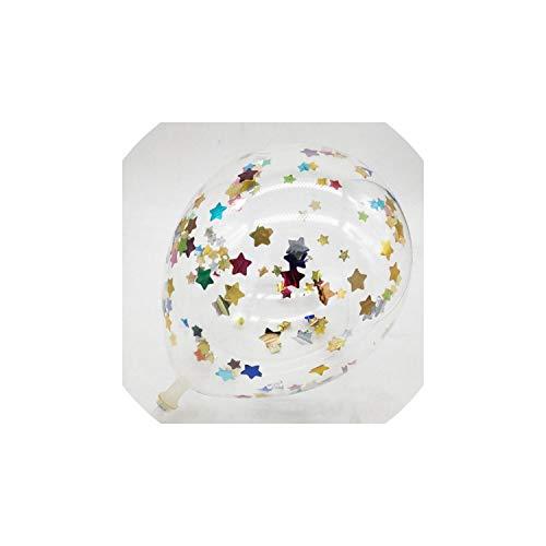 itter Confetti Latexballons Hochzeit Geburtstag Partei-Dekoration-Kind-Baby-Dusche Luft-Ballone Dekor Zubehör, Mix Stern ()