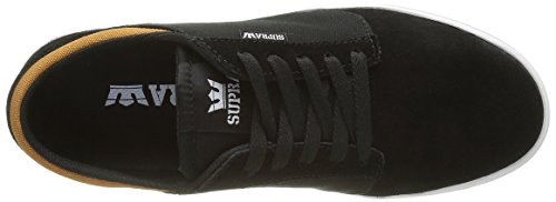 Supra Yorek Low, Sneakers Basses mixte adulte Noir (BLACK / CATHAY SPICE - WHITE BCS)