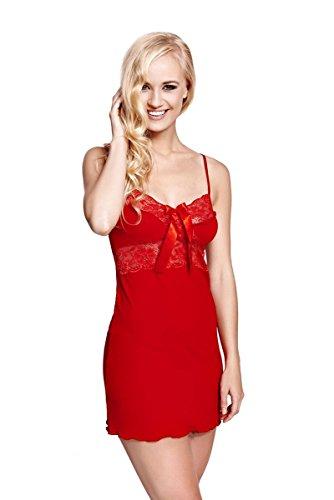 ISABELLE �?Nachthemd / Negligee / Nachtwäsche / Unterwäsche aus der Sophie Bernard Kollektion. Fühl dich wohl! Rot