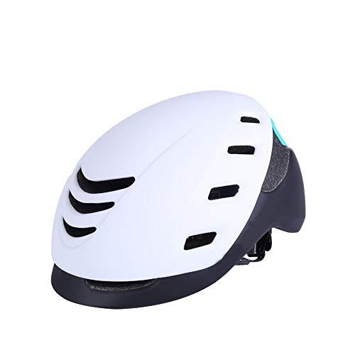 Trend 2019 Fahrradhelm Integriertes Rennrad Mountainbike Unisex Jugend Reithelm Bequemer, atmungsaktiver Helm Dauerhaft (Color : White)