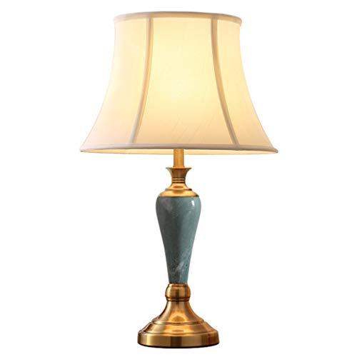 & Tischlampe Tischlampe einfache Schlafzimmer grün Jade Marmor warme Persönlichkeit Dimmen Nachttischlampe Nachttischlampe (Color : Dimming switch)
