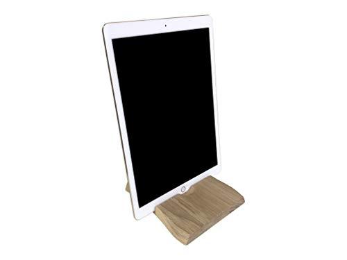 MeinMassivholz hochwertiger Universal Tablet Ständer Tablet Halter aus Massivholz (Eiche) passend für u.A. Ipad, iPhone, Galaxy Tab, Kindle etc. -