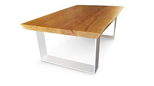 Couchtisch Eiche Massivholz Baumtisch Lofttisch