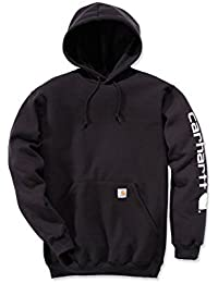 Carhartt Midweight Signature Sleeve Sweat-shirt à capuche Logo–Pull à capuche (L, noir)
