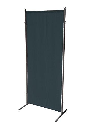 Sichtschutz Wand (Sichtschutz Trennwand 80x190cm, Metall + Textilbespannung anthrazit, verlängerbar)