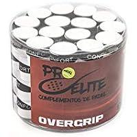overgrips Pro Elite Confort Perforados Blancos. Bote de 60 unds.
