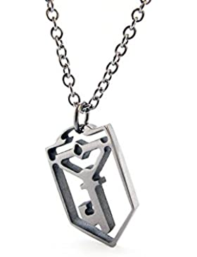 Ingress Resistance Key Necklace - Edelstahl - Handarbeit - Kettenlänge 45 + 5cm