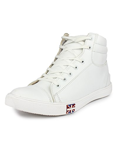 Jynx Men's High ankle sneakers (6 M UK, white)