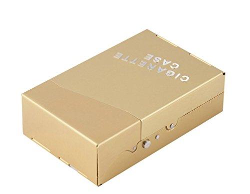 3 Magic-Elefant Zigarettenetuis, Kasten, Behälter, Tasche, Box in Metall, Edelstahl mit automatischer Öffnung per Knopfdruck für Zigaretten, Zigarren Etui in GOLD / SCHWARZ / SILBER (Gold) (Feuerzeug York Zippo New)