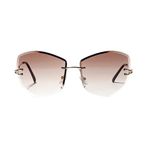 DFIHDCN Sonnenbrillen Diamantförmige rahmenlose Sonnenbrille Casual Sonnenbrillen 2019 Neue Frauen Mann Randlose Klar Farbige Brille