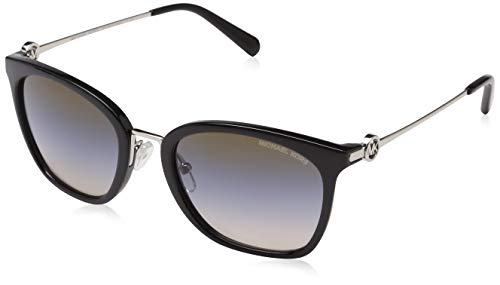 Michael Kors Damen Lugano 3005M0 53 Sonnenbrille, Black/Brown/Blue/Nudetrigradient