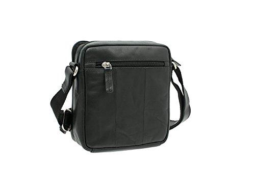 Visconti Compact Leder Messenger / Reisetasche S8 Brown schwarz