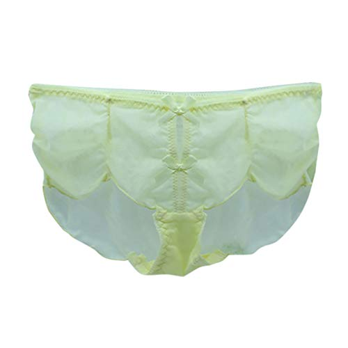 TEBAISE Damen Lace Panty Panties geschlitzte Hüftslip Transparente Damenslip Unterhosen Hipster ()
